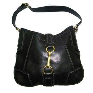 💥FINAL⤵️SALE COACH Blk Leather Slim Hobo Bag MINT